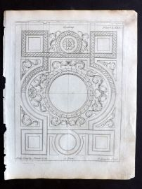 Langley 1777 Antique Architectural Print. Ceiling 175